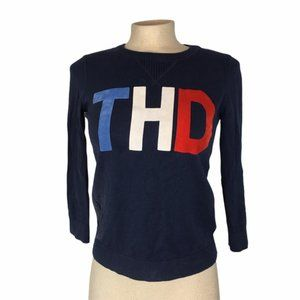 TOMMY HILFIGER Blue Pullover Sweater Crewneck XS